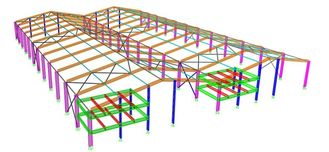 China Normale/spezielle Struktur-Art der Portalstahlrahmen-strukturellen konstruktiven Gestaltungen, fournisseur