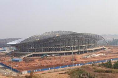 Stahlkonstruktion Soems, vorfabrizierte Rohr-Metallbinder-Gebäude und Sport-Stadien